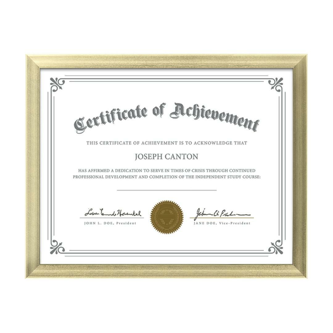 Pfn982x G Calais Certificate Frame Gold St Regis Group